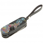 Multi-Function Methane Flame Lighter with Knife + Scissors Toolkit (Black)
