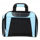 "Protective Nylon Handbag w/ Shoulder Strap for 12"" Laptop - Black + Blue"