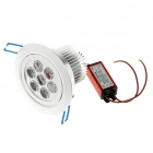 7W 590-Lumen 6500K 7-LED White Light Ceiling Lamp with LED Driver (AC 85~245V)