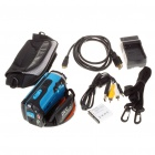 "5.0MP CMOS Waterproof Digital Video Camcorder w/ 4X Digital Zoom/HDMI/AV-Out/SD - Blue(3.0"" LCD)"