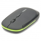 Slim 2.4GHz Wireless 500/1000DPI USB Optical Mouse w/ Receiver - Black (1 x AA)