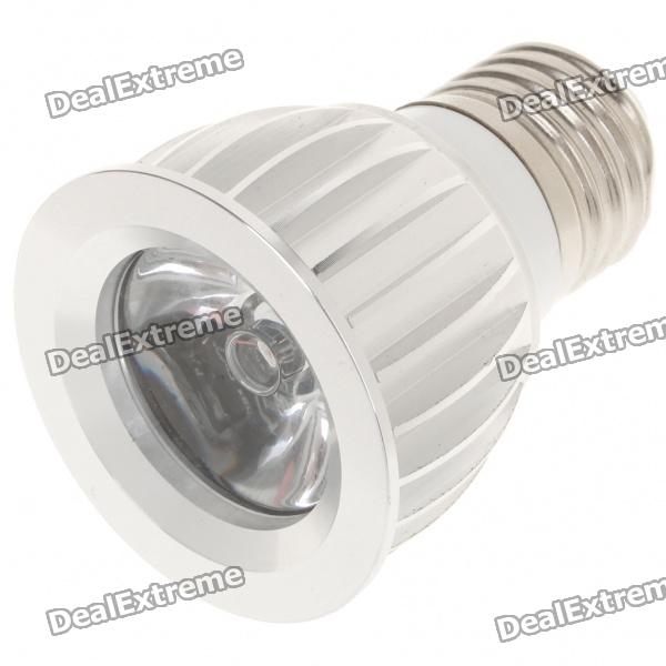 E27 3W 1-LED RGB Colorful Lights Bulb with Remote Controller (85~265V)