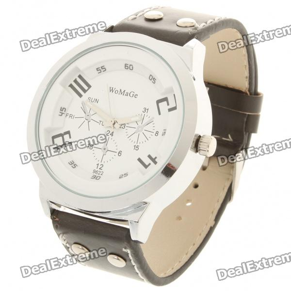 Stylish Electronic Wrist Quartz Watch - Black (1x626)