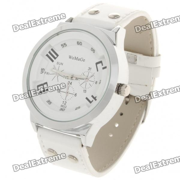 Stylish Electronic Wrist Quartz Watch - White (1x626)