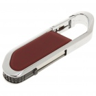 Carabiner Clip Style USB 2.0 USB Flash Drive - Dark Red + Silver (4GB)