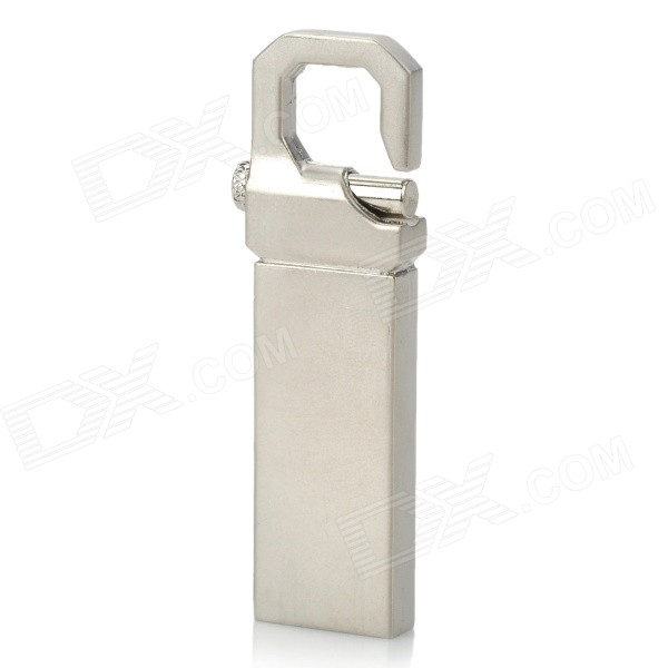 USB 2.0 Zink Alloy USB Flash Drive-silver (4GB)