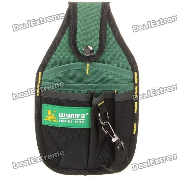 Compact 6 Compartment Tool Bag - Green + Black