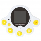 "1.4"" TFT LCD Rechargeable 1.3MP CMOS Video Memo Message Recorder w/ Magnet - White + Yellow (32MB)"