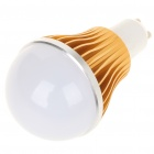 GU10 5W 5-LED Slots Aluminum Alloy Bulb Shell - Gold