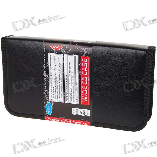 Leatherette CD Portable Storage Bag (Holds 80 CD)