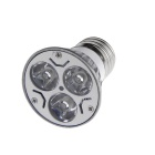 E27 3W 6000K 270-Lumen 3-LED White Light Bulb (85~265V)