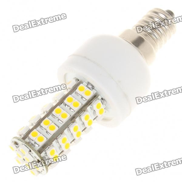купить E14 4W 6500K 240-Lumen 68 x 3528 SMD LED White Light Bulb (85~265V) онлайн
