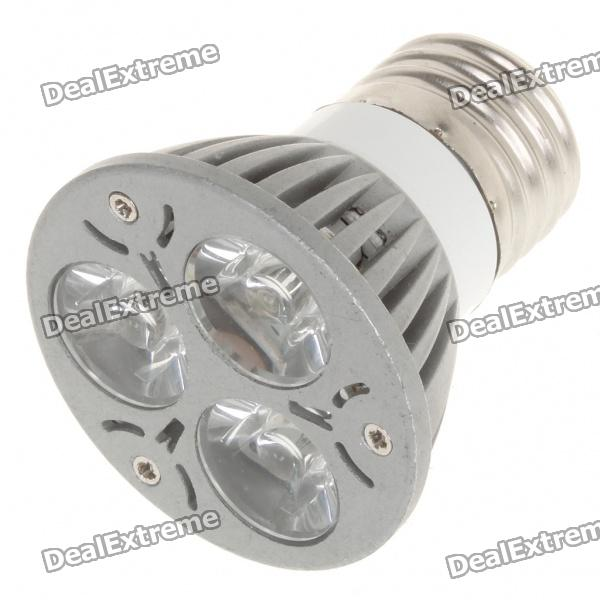 E27 3W 3500K 270-Lumen 3-LED Warm White Light Bulb (85~265V) - DXE27<br>Material: Aluminum alloy Emitter Type: LED Total Emitters: 3 Power: 3 x 1W Color BIN: Warm white Rated Voltage: 85~265V Luminous Flux: 240~270LM Color Temperature: 3000~3500K Connector Type: E27<br>