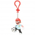 Cute Super Figure Football/Soccer Player PVC Toy Key Chain - Mario