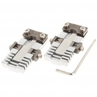 Steel Universal Flat Key Duplicator Clamps w/ Wrench (Pair)