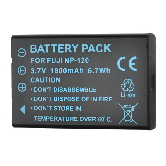 Replacement NP-120 3.7V 1900mAh Battery Pack for FujiFilm FinePix 603/Pentax Optio 450 + More hot sale battery np 95 np 95 rechargeable camera battery for fujifilm finepix f30 f31fd real 3d w1 x s1 x100 x100s