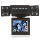 "2.0MP Dual Lens Wide Angle Car DVR Camcorder w/ 8-IR LED Night Vision/TF Slot (2.0"" TFT LCD)"