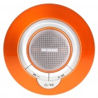 Portable UFO Style Rechargeable MP3 Player Speaker w/ TF/3.5mm jack - Orange