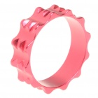 10mm Aluminum Bike Bicycle Toothed Headset Stem Spacer - Red