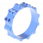10mm Aluminum Bike Bicycle Toothed Headset Stem Spacer - Blue