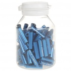 JAGWIRE 5.0mm Aluminum Alloy Cable Housing End Caps Lined Ferrules - Blue (100-Piece)