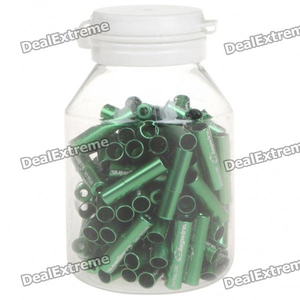 JAGWIRE 5.0mm Aluminum Alloy Cable Housing End Caps Lined Ferrules - Green (100-Piece) тросы тормозные jagwire mountain pro brake комплект для мтв mck422