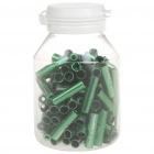 JAGWIRE 5.0mm Aluminum Alloy Cable Housing End Caps Lined Ferrules - Green (100-Piece)