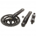 TRUATIV E400 Chainset Crankset with Bottom Bracket for 27 Speed Mountain Road Bike Bicycle - Black