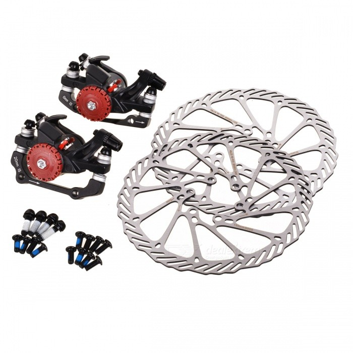 AVID BB5 Aluminum Alloy Mountain Road Bike Bicycle Disc Brakes and Rotors Kit (Front + Rear) motorcycle front and rear brake pads for kawasaki kx250 1989 1993