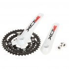 SRSUNTOUR XCT V3 Aluminum Alloy Chainset Crankset for 24 Speed Mountain Road Bike Bicycle - White