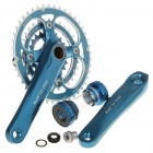 SHUN Aluminum Alloy Chainset Crankset w/ Ball Bearing for 27 Speed Mountain Road Bicycle - Blue