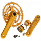 SHUN Aluminum Alloy Chainset Crankset w/ Ball Bearing for 27 Speed Mountain Road Bicycle - Golden