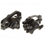 Aluminum Mountain Road Bicycle Disc Brakes w/ Rotors - Black (Front + Rear)