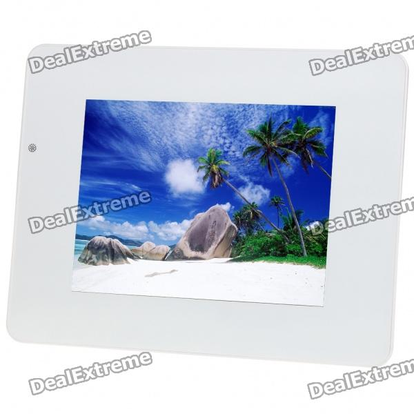 "11.3"" TFT LCD Digital Photo Frame with SD/MMC/MS/Remote Controller - White (16MB)"