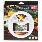 Rechargeable Game Steering Wheel with Speaker for Iphone 3g/3GS/4/Ipod Touch 4 - White