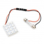 2.5W 12-SMD 5050 LED 120-150LM Blue Light for Car