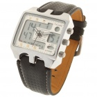 Dual Display Pointer und Digital Water Resistant Armbanduhr (Knopf-Batterie)