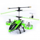 Rechargeable 4-CH R/C Helicopter w/ Gyroscope - Green + Black (IR Remote/6 x AA)