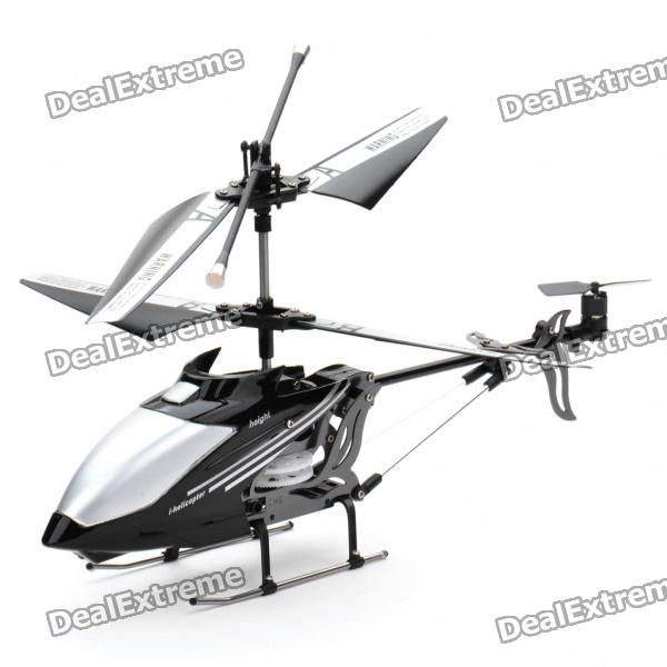 Iphone/Ipod Touch/Ipad Controlled Rechargeable 3-CH R/C I-Helicopter w/ Gyroscope - Black + Silver remote controlled rechargeable racing kart r c car with desktop stand 40mhz