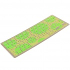 """Stylish Protective TPU Keyboard Cover for Apple Macbook 13.3"""" - Green + Yellow"""