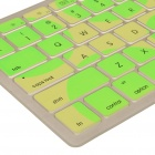 "Stylish Protective TPU Keyboard Cover for Apple Macbook 13.3"" - Green + Yellow"