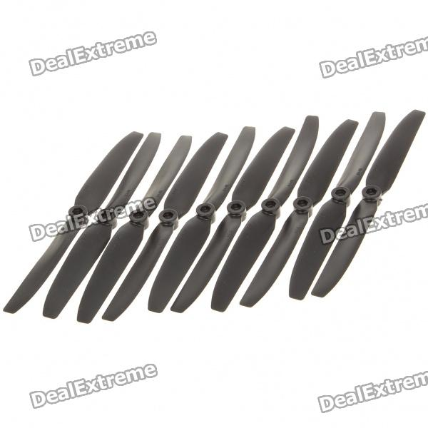 Nylon 8 x 4E Propellers for Quadkopter - Black (5-Piece)