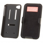 Multi-Use Protective Plastic Case Set for iPhone 4 - Black