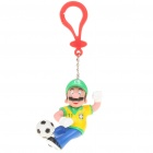 Football Team Super Mario Figure Keychain - Brazil #11
