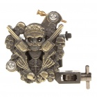 Professional Skull with Revolvers Carbon Alloy Tattoo Machine Liner Shader Gun