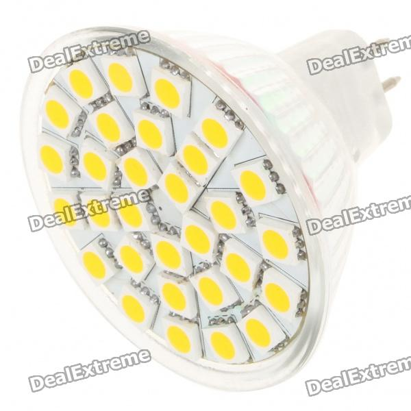 MR16 5.5W 3500K 30x5050 SMD LED 360 Lumen Warm White (12V)