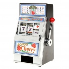 Mini Cherry Slot Machine Coin Bank Toy Set