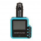 "1.5"" LCD Car MP3 Player FM Transmitter w/ Remote controller/TF/SD/USB Slot - Blue (12V)"