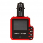 "1.5"" LCD Car MP3 Player FM Transmitter w/ Remote controller/TF/SD/USB Slot - Red (12V)"