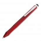 3-in-1 Capacitive/Resistive Touch Screen Stylus Ball-Point Pen - Dark Red